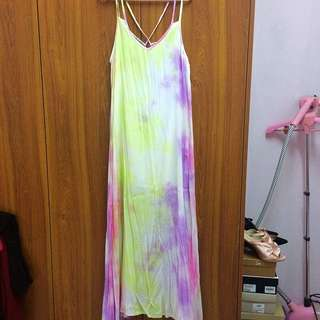NEW Tie Dye Pastel Maxi Dress