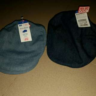 Denim flat caps for boys
