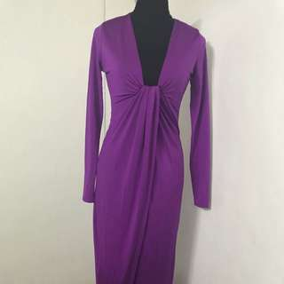 Purple Plunging Maxi Dress