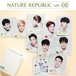 "Nature Republic x EXO ""Hydrogen Mask"""