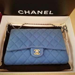 Chanel 💙粉藍色💙短單鏈手袋 95% new 有單 有盒 可陪驗$9500 😊😊