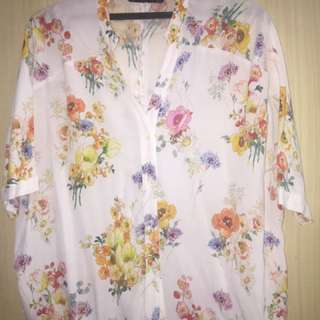 Zara kemeja floral authentic