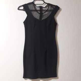 Something Borrowed Black Mesh Dress