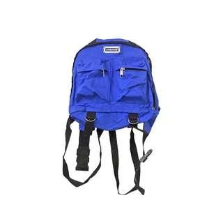KIDS感寶藍色交叉帶腰帶 背包 後背包