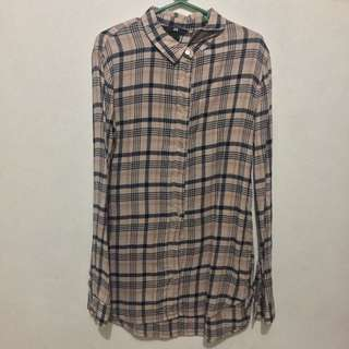 H&M plaid top