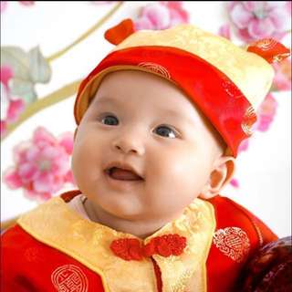 Soft CNY Costume Hat for Boys Babies ^with ears^