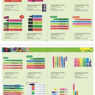 Stationeries school and office supplies