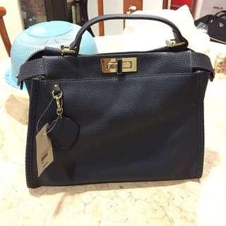Inspired Fendi Leather Handbag