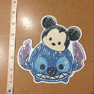Large Tsum Tsum Transparent and Water Resistant Sticker