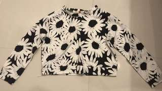 Black and White Floral Longsleeve