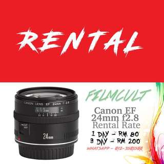 Rental Canon EF 24mm f2.8 Lens