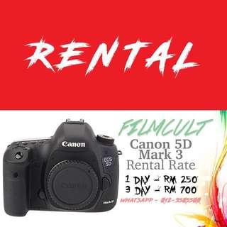 Rental Canon 5D Mark 3 Camera