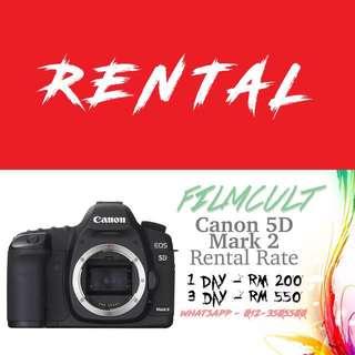 Rental Canon 5D Mark 2 Camera