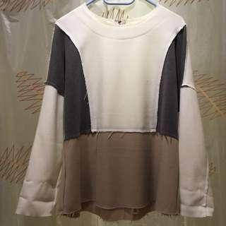 White beige pattern shirt