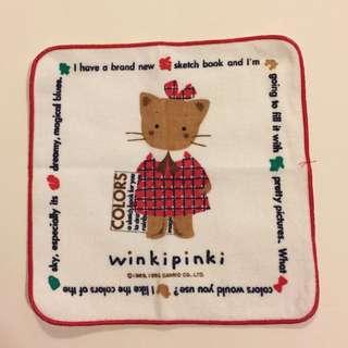 Sanrio vintage Winkipinki 毛巾仔 1993