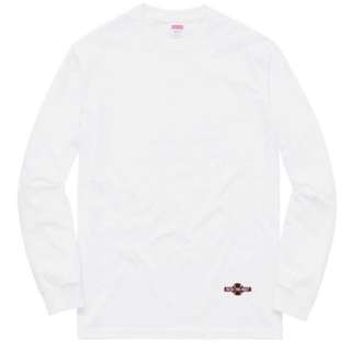 #Supreme# independent L/ S tee M size white, 100% real and new, sell at HKD850, 多谷