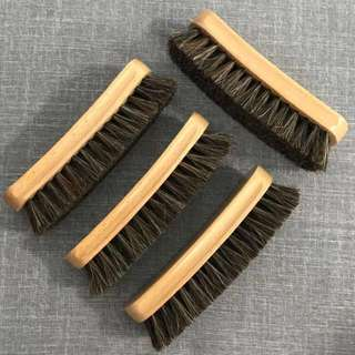 Premium Horsehair Shoe Brush (18cm)