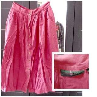 Rok Pink/ Bahan Beludru