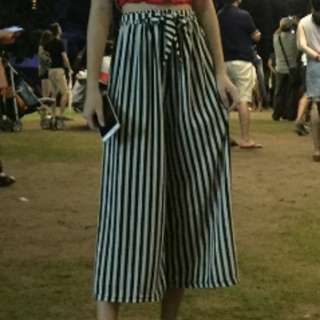 striped culottes / pants