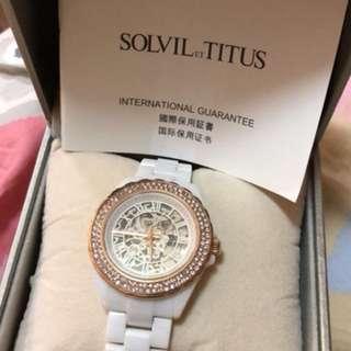 鐵達時Solvil et Titus 陶瓷 手錶