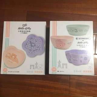 🚚 Hello Kitty法國造型餐碗盤(各1)