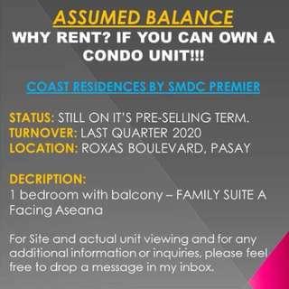 ASSUMED BALANCE - COAST RESIDENCES