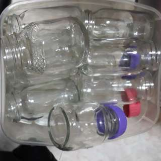 Glass bottles for freezing EBM (expressed breast milk)