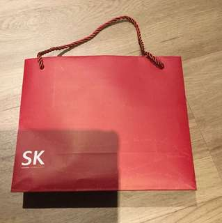 Mid Size SK Jewellery Red Paper Bag