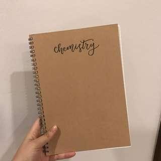 MUJI notebook chemistry