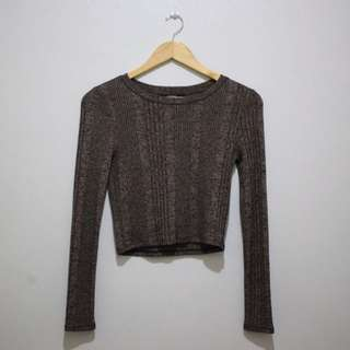 Forever 21 Brown Long Sleeve Top