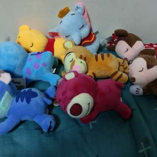 迪士尼 趴睡娃娃 睡姿娃娃 玩偶