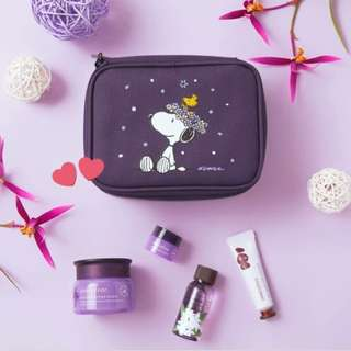 Innisfree x Snoopy limited edition purple orchid box