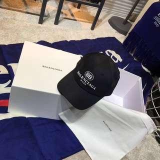 BALENCIAGA BB CAP, BLACK