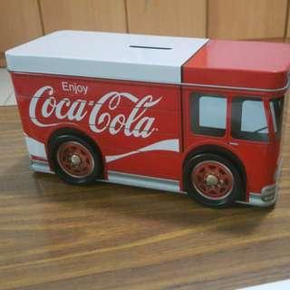 #HUAT50Sale Coca cola tin truck money bank