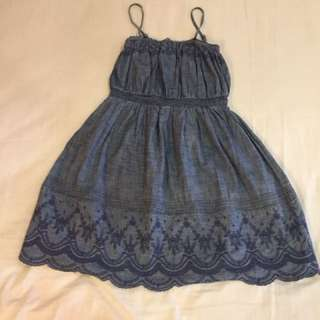 GapKids Denim like Patterned Dress