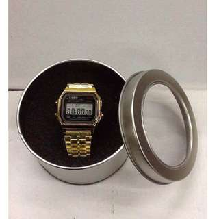 Casio Vintage Watch Silver and Gold