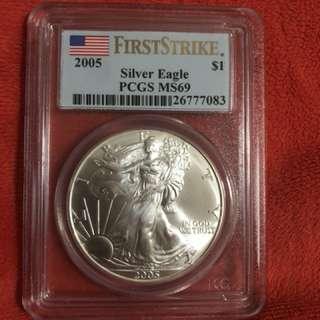 American Silver Eagle ms69