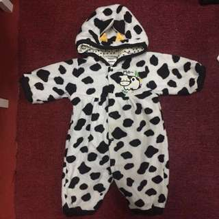 Baby Jumpsuit Animal (Cow)