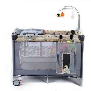Baby crib with music box