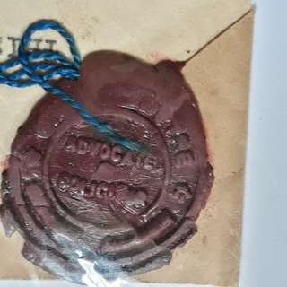 FEDERATED MALAY STATES - 1933 - NOTARY - Super Wax Seal. - in54