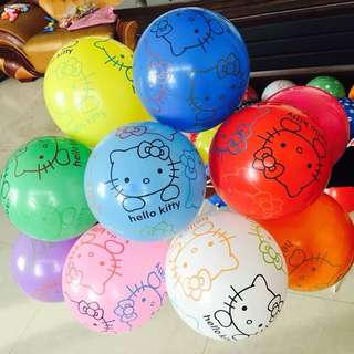🌈 Hello Kitty party supplies - party deco / latex balloons