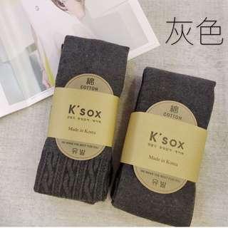 顯瘦針織褲襪(素面款/麻花款)黑色/灰色