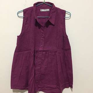 Zara TRF Purple Shirt