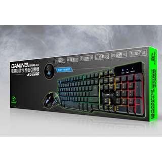 台灣 Kworld 廣寰 KCG200 電競套裝  (Gaming,Keyboard,Mouse,電競,鍵盤,滑鼠,鍵帽,背光燈,防潑水)