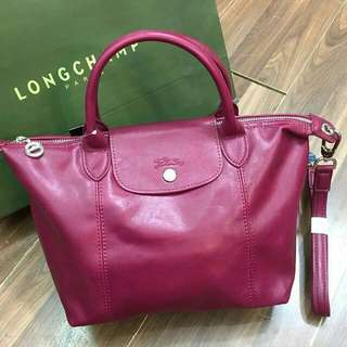LONGCHAMP CUIR SIZE 25CM (ALMOST MIRROR)