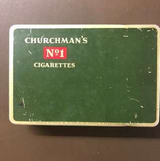 Clearing Stocks: 1800's Vintage Old Litho Print Tin Churchman's No.1 Cigarette Box, RARE.