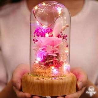 LED保鮮花藍芽音樂座 藍芽喇叭 Preserved Flower Bluetooth Speaker 永生花 情人節禮物 Valentine's Gift
