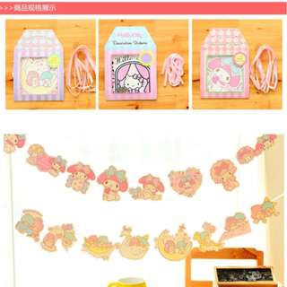 Party Garlands Deco Hello Kitty Melody