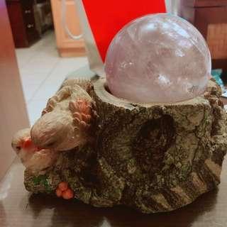 紫水晶球 (含底座)