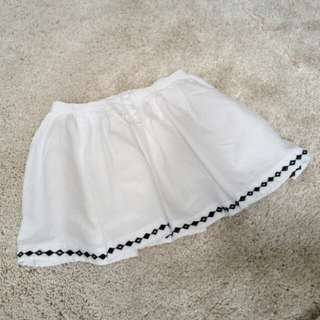 Carters white skirt